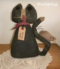 CAT/MOUSE-Country Primitive Prim Antique Style Fabric Doll Folk Art