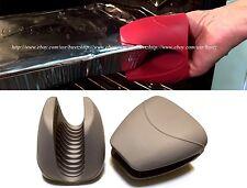 2 THICK Silicone Pot Grip Holder Oven Mini Mitt Cooking Pinch Grips Kitchen Heat