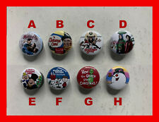 """Christmas Holiday Classics • PONYTAIL HOLDER • 1.0"""" Round • 8 Different Designs"""