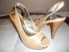 woman New Style & Co. Jackee Peep Toe Strappy Unique Stiletto size 10M