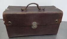 Antike Koffertasche Koffer Leder Tasche