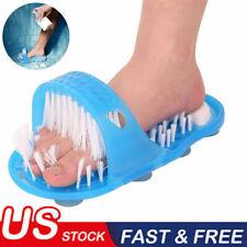 Shower Feet Foot Scrubber Massager Cleaner Spa Exfoliating Washer Wash Slipper