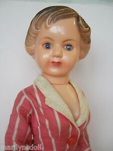 "VHTF 1940-50's Evergreen  doll 14 and half "" Original"