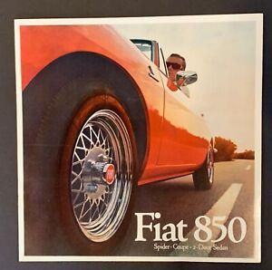 Original 1969 Fiat 850 Spider, Coupe ,Sedan 10 Page Large Format Sales Brochure!
