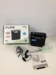 Pure One Mini Portable DAB/FM Radio Black Boxed Untested Compact #444