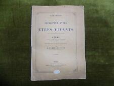 Oscar Schneider les PRINCIPAUX TYPES DES ETRES VIVANTS ATLAS Edmond Perrier 1882
