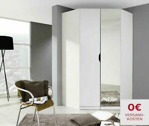 Eckschrank Weiß + Spiegel 2 Türig + Ablageböden 197 cm Hoch TOP !