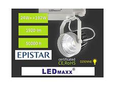 LED-MAXX Spot 3-Phasen Strahler weiß-schwarz 36° 24W Schiene Leuchte 230V