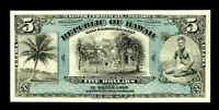 ABNC PROOF OR INTAGLIO PRINT OF REPUBLIC OF HAWAII $5 SILVER CERTIFICATE