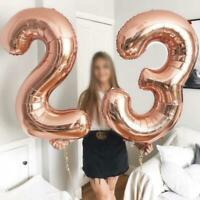 "32"" Giant NUMBERS 0-9 FOIL BALLOONS Air or Helium inflate Birthday Party"