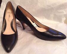 New🌹Clarks🌹Size 7.5 D Cedar Chest Black Leather Court Softwear Shoes 41.5EU