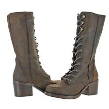Musse & Cloud Kenya Rugged Mid Calf Lace Up Bootie Boots US 7 ($180) EUR 38 BRWN
