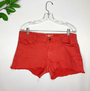 LUCKY BRAND Red RILEY Cut Off Short Size 12/31