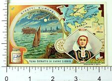 1880's Straits of Europe Scenes Lovely England Liebig 6 Trade Card Set K37