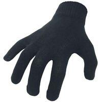 BikeIt Motorcycle Thermal Cotton Inner Gloves One Size GLVBLK Winter Bike Glove