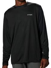 Nwt Columbia Pfg Mens Terminal Tackle Pfg Fish Flag Long Sleeve Shirt Black L