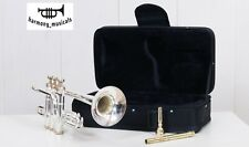 Pro Piccolo Trumpet 4 Valves Silver Plated Master's Choice with Hard Case & MP