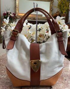 Brooks Brothers Shrunken Calfskin Large Leather Buckle Hobo Handbag EUC! $398