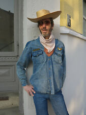 USA army Hemd Herren Jeanshemd 80/90er True VINTAGE 80/90´s men jeans shirt blue