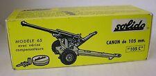 Repro box solido militaire Nº 205 Canon de 105 MM