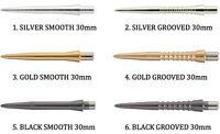 TARGET STORM DART POINTS - Short 26mm / Medium 30mm SMOOTH / GROOVED FINGER GRIP