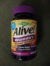 NEW Nature's Way Alive! Women's Gummy Vitamins Multi-Vitamin 60 SEALED 08/2020
