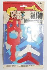 VINTAGE OLD PLASTIC AUTO BOOMERANG FLYING TOY .59 HONG KONG