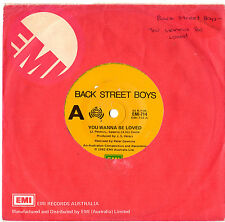 """BACK STREET BOYS - YOU WANNA BE LOVED / ONE NIGHT STAND - RARE 7"""" 45 RECORD 1982"""