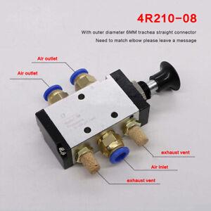 "Pneumatic Air Valve 4R210-08 5 Port 2 Position 1/4"" BSPT Push Pull Lever Control"
