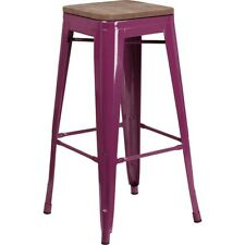 "Flash Furniture 30"" Backless Purple Barstool - ET-BT3503-30-PUR-WD-GG"