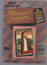 Michael Jackson Topps 1984 Complete Collectors Set of 33 Cards on Card