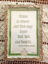 """Berry & Vine Silver Plate Picture Frame With Home & Hearts Saying 3"""" X 4.25"""""""