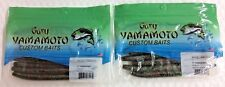 "Gary Yamamoto 5"" Senko Watermelon Red Green - 9-10-222 - 2 Packs of 10 Pack"