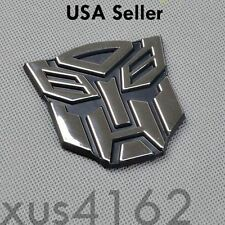 3D Chrome Autobot 2 Inch Transformers Emblem Badge Decal Car Stickers Truck