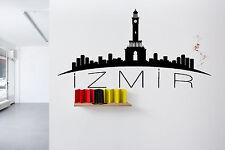 Wall Vinyl Sticker Decal Skyline Horizon Panorama City Izmir Turkey World F1761