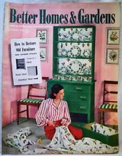 BETTER HOMES & GARDENS MAGAZINE JANUARY 1943 VINTAGE HOME DECORATING LANDSCAPING