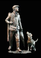 End of the Day Shooter & Dog Bronze Foundry Cast Sculpture Michael Simpson [787]