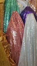GLITZ SEQUIN  DUSTY ROSE ON MESH  58 INCH FABRIC SOLD BY THE YARD