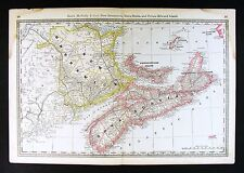 c. 1887 Antique Rand McNally Map - Nova Scotia New Brunswick Halifax - Canada