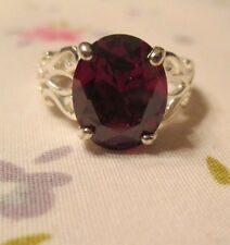 Avon .925 Sterling Silver Oval Ruby Ring- sz 5- NEW!