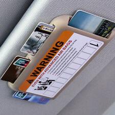Auto Sun Visor Holder for Driver License, Registration, Insurance, C Cards - Tan