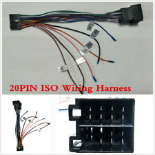 1 Set Car Stereo Radio 20PIN ISO Wire Harness Adapter Connector For ISO Android