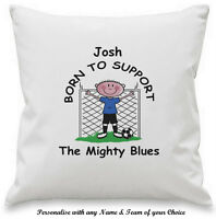 PERSONALISED Novelty Any FOOTBALL Team CUSHION COVER Gift Ideas For HIM Fan Club