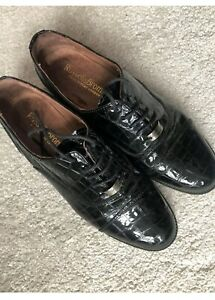 Russell and Bromley Womens Patent Croc Brogues Size 39/UK 6