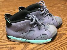 ecccb2d36b57 Nike 645127 508 Jordan 6 Retro Purple Black Toddler Shoes Sneakers Size 10C