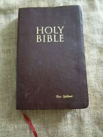 Bible 1994 Zondervan Burgundy Bonded Leather KJV King James Reference