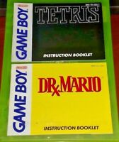 Tetris + Dr. Mario - Nintendo Game Boy Instruction MANUAL ONLY - No Game