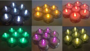 LED Submersible Waterproof Floralyte Battery Tea Lights - Packs of 10 to 24
