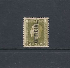 NEW ZEALAND OFFICIALS: 1915-27 KGV 9d Sage-green P14x13½ SG O104 MVLH.