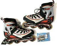 Rollerblade Zetrablade Mens Size 13 Inline Skates - Black/Gray/Red